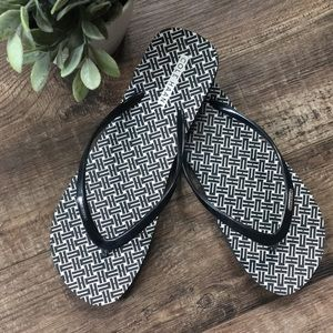 Cole Haan Black and White Sandals
